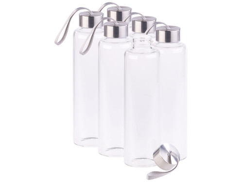 6 bouteilles en verre borosilicate - 550 ml