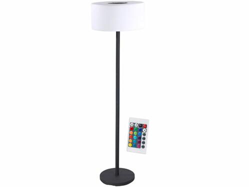 Lampe sur pied led couleur pour balcon chargement solaire for Lampe sur pied avec tablette