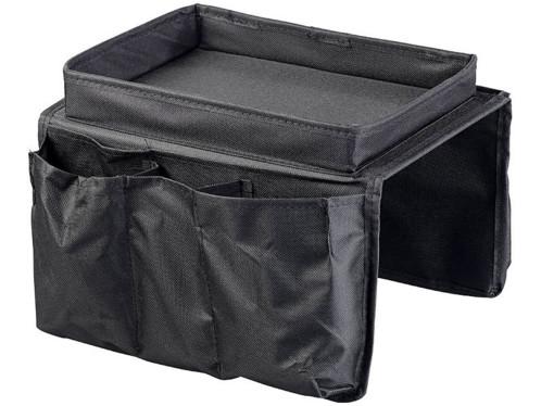 organiseur souple pour accoudoir de canap avec 5 poches. Black Bedroom Furniture Sets. Home Design Ideas