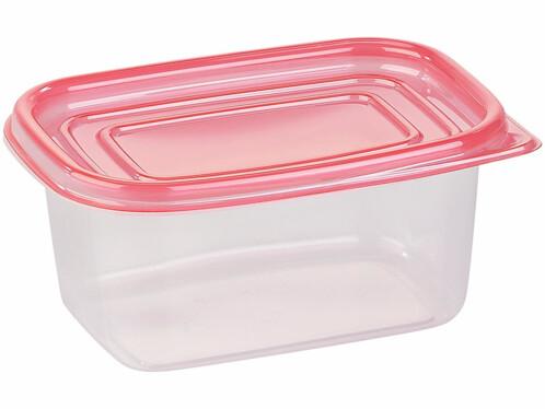 pack de 15 boites de conservation en plastique sans bisphénol tupperware 5 tailles couvercle rose