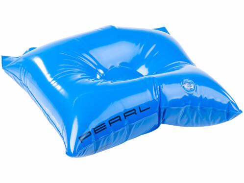 sac de plage en pvc etanche bleu avec poche gonflable fonction coussin de plage pearl