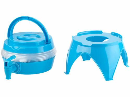 petit tonneau pliable en plastique avec robinet de service pour réserve d'eau terrasse été bureau camping randonnée