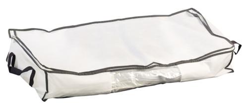 housse de rangement sous vide avec fermeture éclair pour habits linge textiles 48 litres