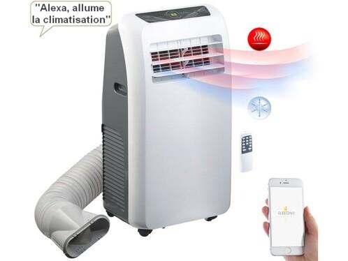 Climatiseur mobile réversible 12000BTU/h, 3500W, compatible commandes vocales
