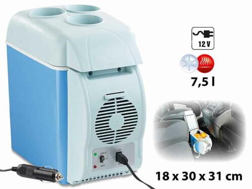 Glacière thermoélectrique chaud/froid 7,5 L 12 V avec 3 porte-boissons