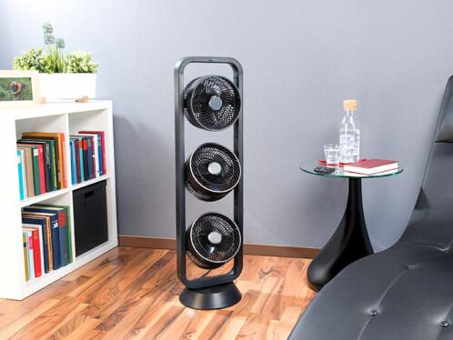 ventilateur tour avec triple rotor orientables 105 w avec. Black Bedroom Furniture Sets. Home Design Ideas