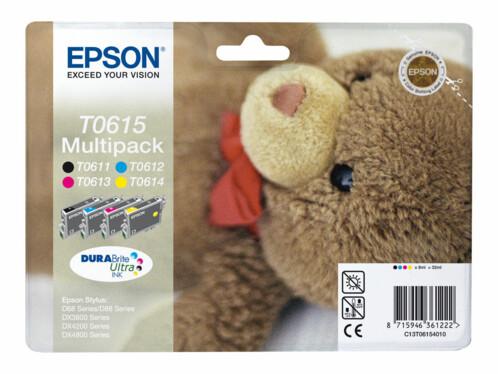 Cartouches originales Epson ''T061540'' Pack couleur + noir