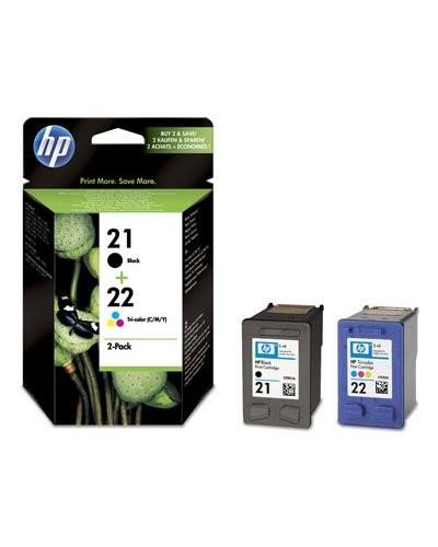 Cartouches originales HP N°21 et N°22  SD367AE - Noir/CMJ