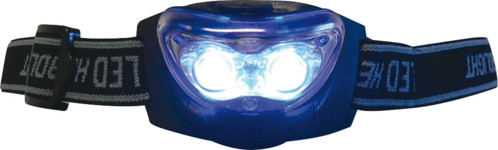 Lampe frontale 2 LED blanches + 1 LED rouge