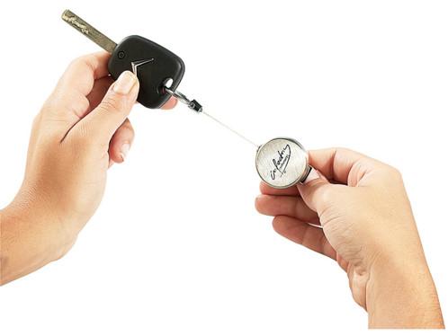 Mini porte-clés zip de luxe