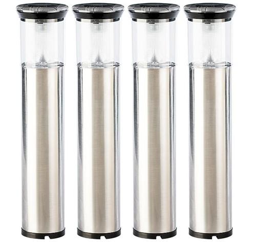 4 lanternes solaires à piquet ''Phare''