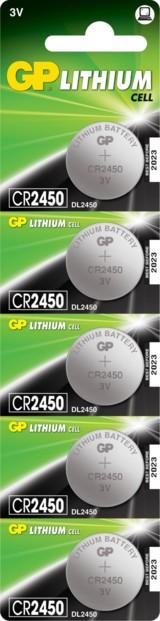 Piles bouton CR2450 - Lot de 5