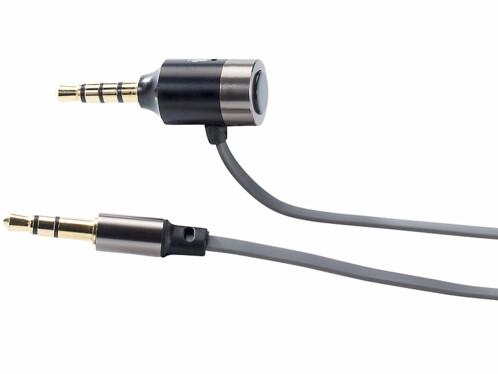 Câble de connexion AUX avec fonction mains libres pour autoradio