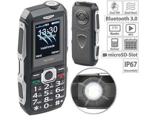 Téléphone mobile outdoor double SIM étanche et antichoc