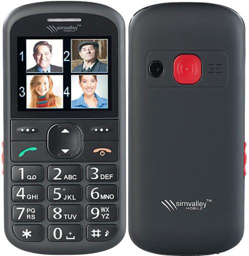 Téléphone mobile spécial seniors avec fonctions appel d'urgence, mémos vocaux et loupe de lecture XL