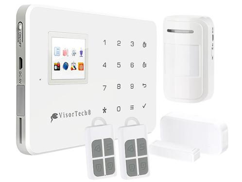 système d'alarme maison avec détecteur de mouvements et mode gsm pour message sms d'alerte visortech XMD-5400.wifi