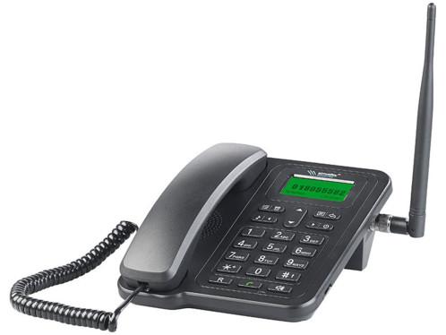telephone fixe filaire de bureau avec port SIM pour appels GSM TTF-401 simvalley