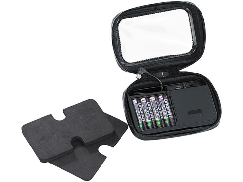 Housse de protection GPS avec pack d'alimentation et support guidon - 5''