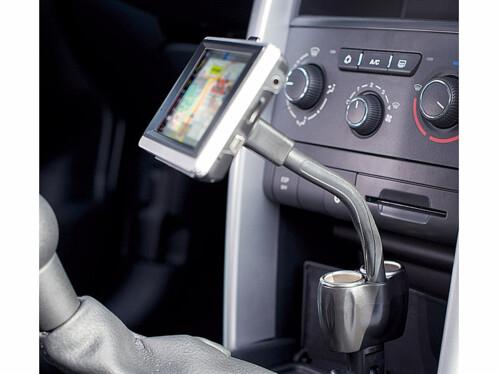 Support GPS à col de cygne sur allume-cigare - 11 cm