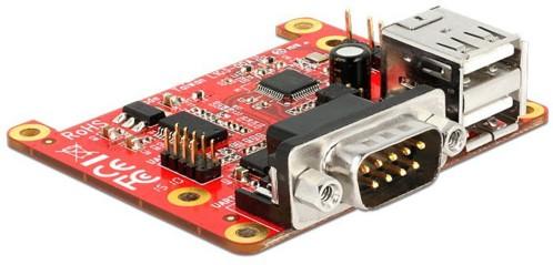 Carte d'extension pour Raspberry Pi - 2x USB + 2x Série RS232