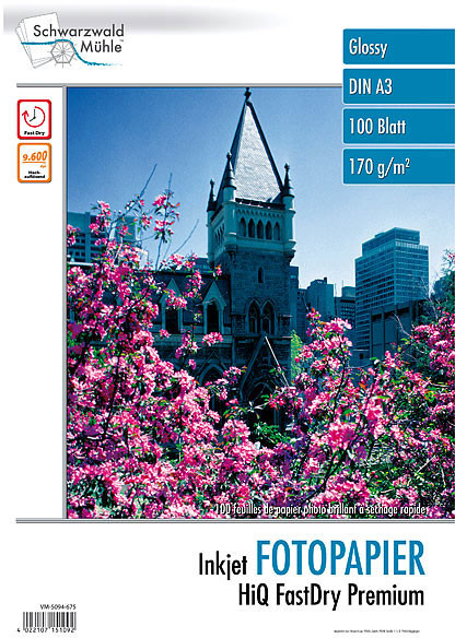 100 feuilles papier photo brillant A3 - 170 G