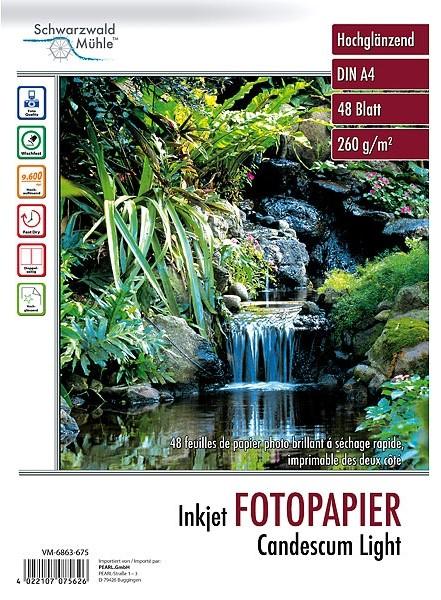 48 feuilles papier photo double face brillant A4 - 260 G