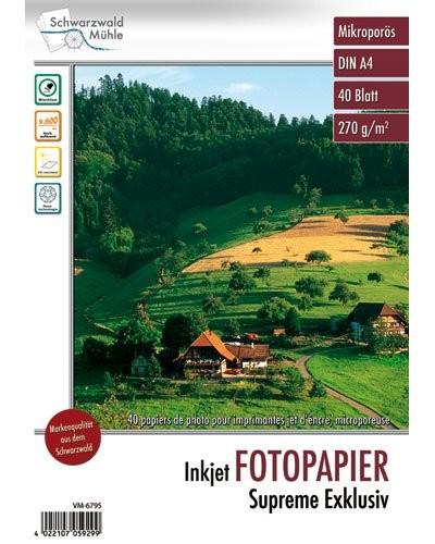 40 feuilles papier photo brillant A4 - 270 G