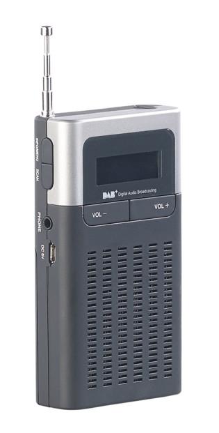 mini radio de poche nomade analogique fm numerique dab+ vr-radio dor-230