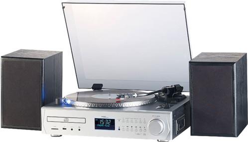 Chaîne stéréo avec Platine 33 45 tours numeriseur lecteur cassette k7 radio numérique dab+ et lecteurs CD USB SD mhx620