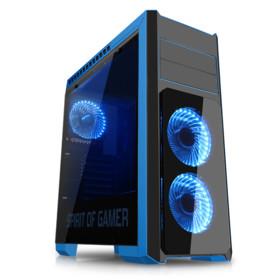 boitier pc gaming avec 3 ventilateurs usb 3.0 et slot hdd ssd spirit of gamer rogue iii 3