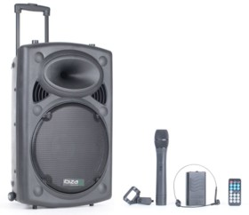Sono portable + 2 micros Ibiza Sound PORT12 - 700 W