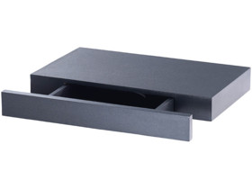 etagere rectangulaire noir pour entree avec tiroir discret carlo milano