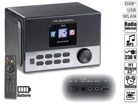 radio reveil avec stations internet et frequences fm dab+ irs-650 vr-radio