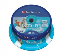 CD-R Verbatim AZO Wide Inkjet Printable (x25)