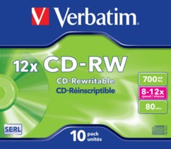 CD-RW Verbatim à enregistrement rapide (x10)