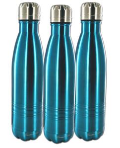 Lot de 5 bouteilles isothermes en inox - Moyenne 0,5 L