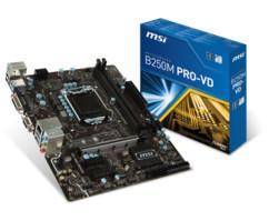 carte mère msi b250m pro vd socket 1151 sata 6gbps ddr4 processeur intel i3 i5 i7