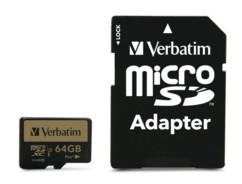 Carte micro SDXC Verbatim Pro+ - 64 Go