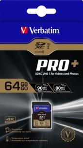 Carte SD Pro+ Verbatim - 64 Go