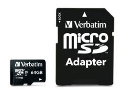Carte micro SDXC Verbatim - 64 Go