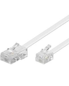 Câble téléphonique RJ11 / RJ45 Blanc - 6m