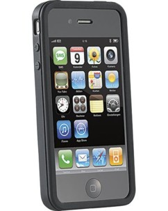 Protection en silicone pour iPhone 4 et 4S - noir