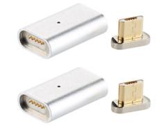 2 adaptateurs Micro-USB magnétiques pour câble de chargement et transfert