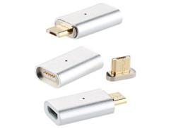 3 adaptateurs Micro-USB magnétiques pour câble de chargement et transfert