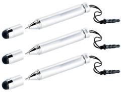 3 stylos à bille / stylets pour tablettes PC et smartphone