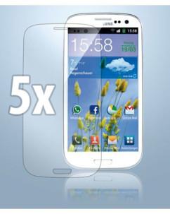 5 films de protection pour Samsung I9300 Galaxy S3