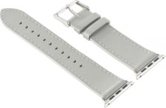 Bracelet en cuir pour Apple Watch - 42 mm - Gris