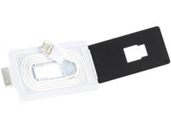 Câble chargement & transfert Dock format carte de crédit