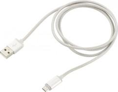 Câble Micro-USB argenté à LED - 1m