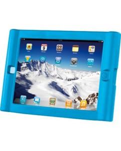 Coque de protection antichoc en silicone pour iPad - bleue